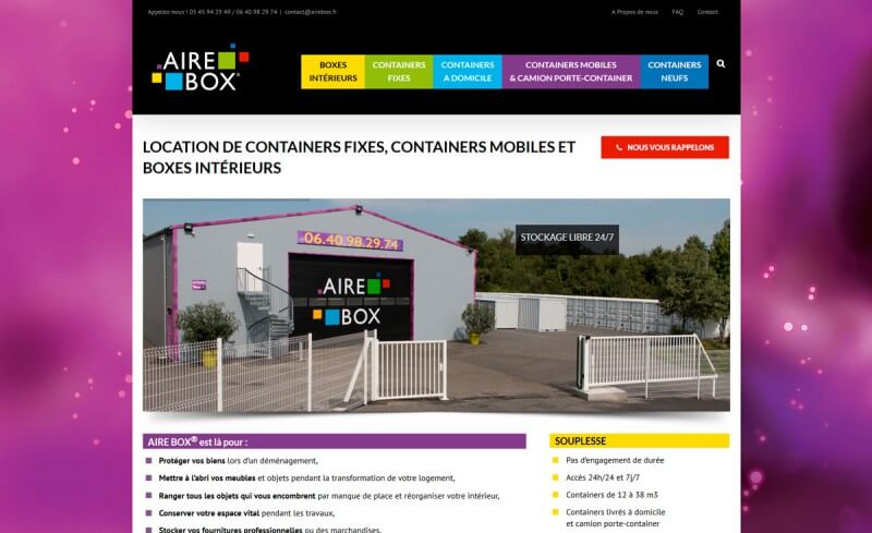 site vitrine AireBox.fr