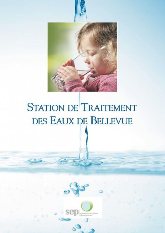 Plaquette Station de traitement de eaux de Bellevue